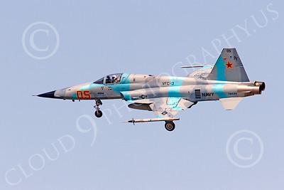 F-5USN 00058 Northrop F-5E Freedom Fighter USN 761544 VFC-13 FIGHTING SAINTS lands at NAS Fallon, by Peter J Mancus