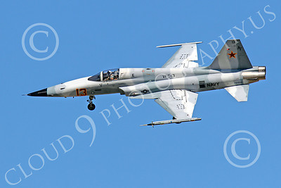 F-5USN 00042 Northrop F-5E Freedom Fighter USN 761552 VFC-13 FIGHTING SAINTS banks to land at NAS Fallon, by Peter J Mancus