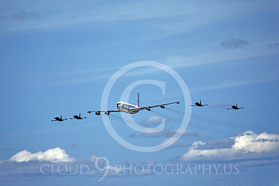FORM 00006 Five Canadian Armed Forces airplanes fly in formation, military airplane picture by Michael Grove, Sr