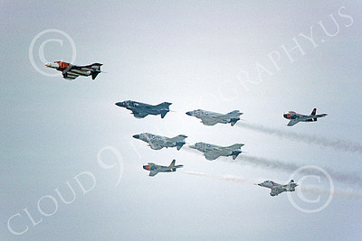 FORM 00005 Eight USN airplanes fly in formation military airplane picture by Michael Grove, Sr