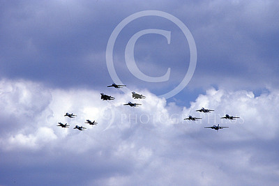 FORM 00004 Twelve USN airplanes fly in formation, military airplane picture by Michael Grove, Sr