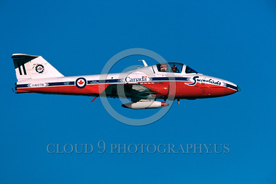 CAFSB 00012 A flying Canadian Armed Forces CT-114 Tutor Snowbirds aerobatic military fight demonstration team airplane picture by Peter J Mancus