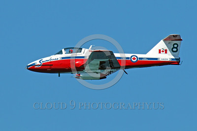CAFSB 00006 A nice side profile of Canadian Armed Forces' Snowbird Number 8 military airplane picture by Peter J Mancus