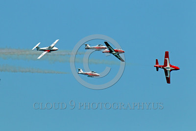 CAFSB 00010 The Canadian Armed Forces' Snowbirds seen altering their formation military airplane picture by Peter J Mancus