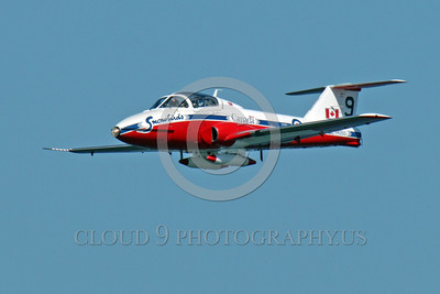 CAFSB 00001 Canadian Armed Forces' Snowbirds Number 9 makes a low pass during an airshow military airplane picture by Peter J Mancus