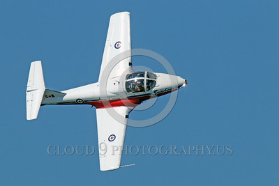 CAFSB 00003 A nice top view of a banking Canadian Armed Forces' Snowbird Canadair CT-114 Tutor military airplane picture by Peter J Mancus