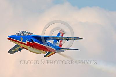 Patrouille de France 00004 A solor flying Dassault-Breguet Dornier Alpha Jet Patrouille de France military airplane picture by Peter J Mancus