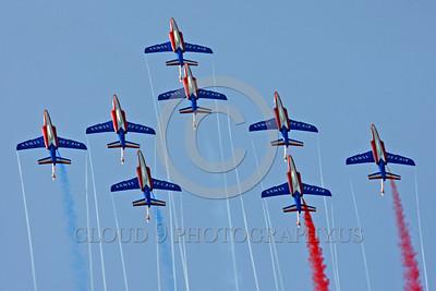Patrouille de France 00016 A flying formation of Dassault-Breguet Dornier Alpha Jets Patrouille de France military airplane picture by Peter J Mancus