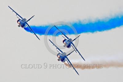 Patrouille de France 00026 A flying formation of Dassault-Breguet Dornier Alpha Jets Patrouille de France military airplane picture by Peter J Mancus