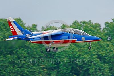 Patrouille de France 00030 A landing Dassault-Breguet Dornier Alpha Jet Patrouille de France military airplane picture by Peter J Mancus