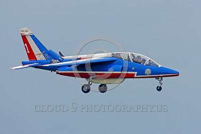 Patrouille de France 00060 A landing Dassault-Breguet Dornier Alpha Jet Patrouille de France military airplane picture by Peter J Mancus