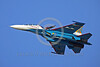 RAFK 00034 A flying Russian Air Force Sukhoi Su-27 Flanker jet fighter KNIGHTS flying aerobatic military flight demonstration team airplane picture by Paul Ridgway