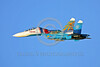 RAFK 00036 A flying Russian Air Force Sukhoi Su-27 Flanker jet fighter KNIGHTS flying aerobatic military flight demonstration team airplane picture by Paul Ridgway
