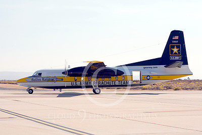 GoldK 00007 A taxing Fokker C-31 Troopship US Army GOLDEN KNIGHTS Edwards AFB military airplane picture by Peter J Mancus
