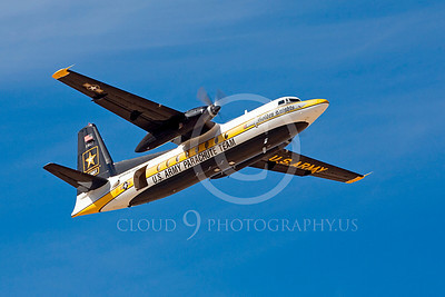 GoldK 00010 A flying Fokker C-31 Troopship US Army GOLDEN KNIGHTS Edwards AFB military airplane picture by Peter J Mancus