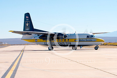 GoldK 00023 A taxing Fokker C-31 Troopship US Army GOLDEN KNIGHTS Edwards AFB military airplane picture by Peter J Mancus