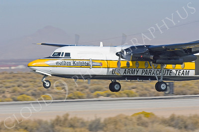 CUNMP 00014 Fokker F-27 Friendship US Army GOLDEN KNIGHTS Edwards AFB by Peter J Mancus