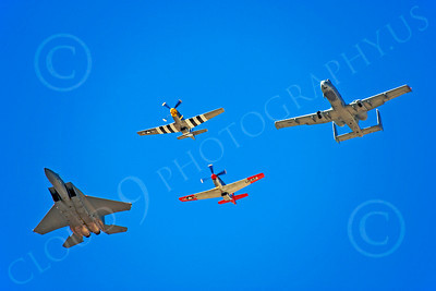 HF 00134 A-10, P-51s, and F-15, by Peter J Mancus