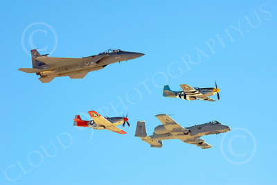 HF 00050 A-10, P-51s, and F-15, by Peter J Mancus