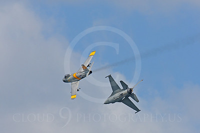 HF 00186 North American F-86 Sabre and Lockheed Martin F-16 Fighting Falcon by Peter J Mancus