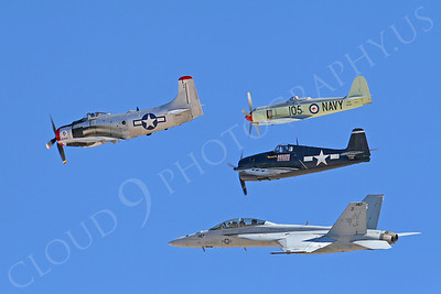 HF 00073 Skyraider, Sea Fury, Hellcat, and Super Hornet by Tim P Wagenknecht