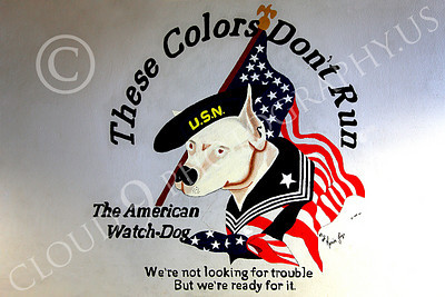 MilArt 00001 The US Navy, the American Watch-Dog, on a wall in a hangar at NAS Fallon, Nevada, by Peter J Mancus