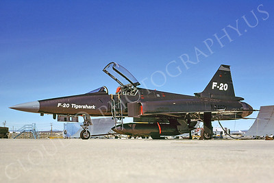 PT 00008 Northrop F-20 Tiger Shark N44671 March 1986 Edwards AFB by Peter J Mancus