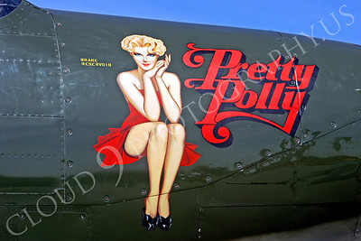 NA 00010 Nose art on Bell P-63 King Cobra -- Pretty Polly, by Peter J Mancus