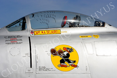 NA 00001 Nose art on USAF F-86 Sabre -- Boxing Buzzard, by Peter J Mancus