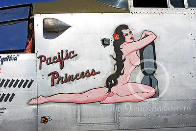 NA 00008 Nose art on North American B-25 Mitchell -- Pacific Princess, by Peter J Mancus