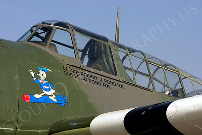 NA 00007 Nose art on Grumman TBM Avenger -- Donald Duck, by Peter J Mancus