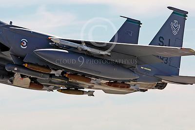 ORD 00006 Mark II 500 pound dumb iron bombs on USAF McDonnell Douglas F-15E Strike Eagle by Peter J Mancus