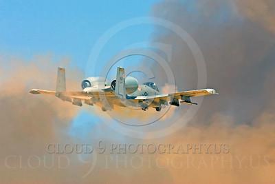 OR 00014 A USAF Fairchild A-10 Thunderbolt II fires its 30mm Gatling gun, by Peter J Mancus