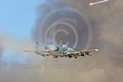 OR 00038 A USAF Fairchild A-10 Thunderbolt II on a low altitude gun firing pass, by Peter J Mancus