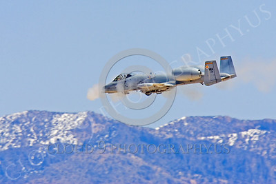 OR 00026 A USAF Fairchild A-10 Thunderbolt II fires its 30mm Gatling gun, by Peter J Mancus