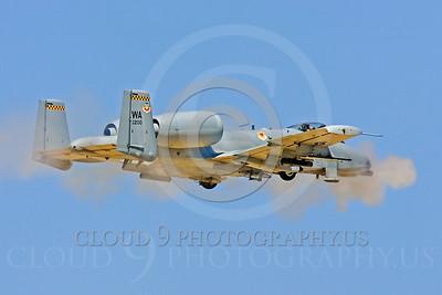 OR 00040 A USAF Fairchild A-10 Thunderbolt II, 80200, fires its 30mm Gatling gun, by Peter J Mancus