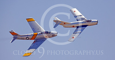 WSP-MA 01020 North American F-86F Sabre US Air Force warbird markings and MiG-15 Soviet Air Force warbird markings by Peter J Mancus