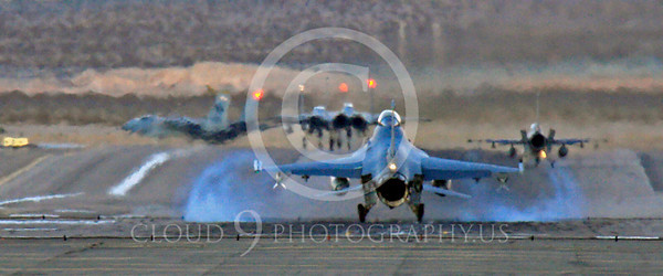 WSP-MA 00002 Lockheed Martin F-16 Fighting Falcon landing at Nellis AFB by Peter J Mancus