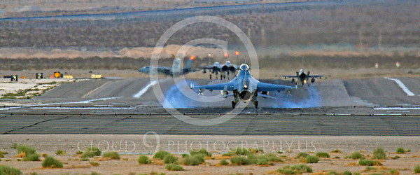 WSP-MA 00001 USAF Lockheed Martin F-16 Fighting Falcon landing at Nellis AFB by Peter J Mancus