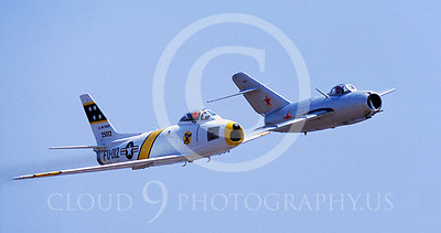 WSP-MA 01002 North American F-86F Sabre US Air Force warbird markings and MiG-15 Soviet Air Force warbird markings by Peter J Mancus