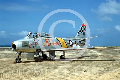 MiGK 00001 North American F-86 Sabre USAF 24584 THREE KILLS by Clay Janson
