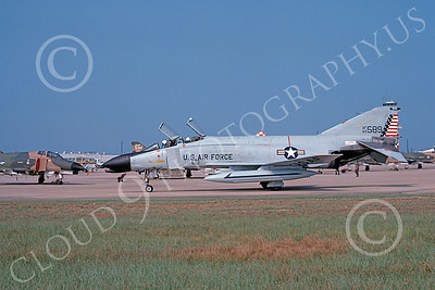 F-4USAF 00057 A taxing McDonnell Douglas F-4C Phantom II USAF 63589 MiG KILLER Tyndall AFB 9-1978 military airplane picture by Ray R  Leader