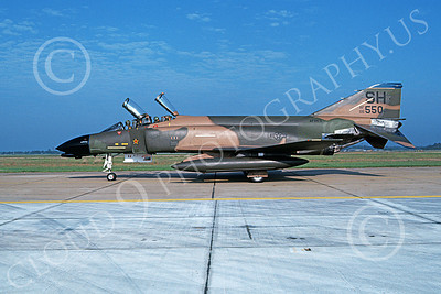 F-4USAF 00133 A taxing McDonnell Douglas F-4C Phantom II AFRES 66550 one kill MiG KILLER SH code 5-1983 military airplane picture by Don Spering
