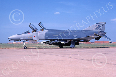 F-4USAF 00961 A static McDonnell Douglas F-4D Phantom II AFRES 6650 SH code MiG Killer 9-1988 military airplane picture by Don Spering