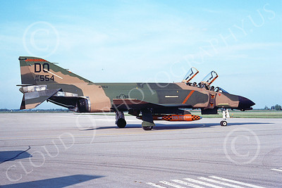 F-4USAF 00185 McDonnell Douglas F-4D Phantom II AFRES 66554 DO MiG KILLER June 1983 military airplane picture by Michael Grove, Sr