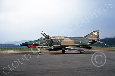 F-4USAF 00109 A taxing McDonnell Douglas RF-4C Phantom II USAF 65873 38th TRS 26th TRW RR code SHARKMOUTH Ramstein milirary airplane picture by Wilfried Zetsche