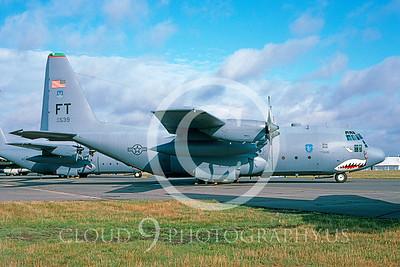 C-130USAF 00003 Lockheed C-130E Hercules USAF #64539 SHARKMOUTH via AASS