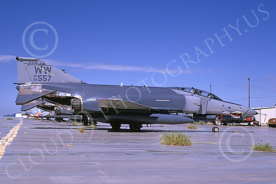 F-4ANG 00133 McDonnell Douglas F-4E Phantom II Idaho Air National Guard 669557 WW Sept 1996 SHARKMOUTH military airplane picture by Michael Grove, Sr