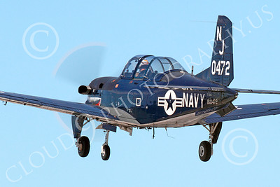 T-34USN 00014 A landing black sharkmouth US Navy Beech T-34C Mentor 160472 NJ code 10-2013 military airplane picture by Peter J Mancus