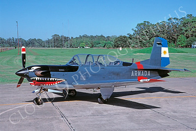 SM 00111 Beech T-34 Mentor Turbo Chiliean Navy April 2005 via African Aviation Slide Service